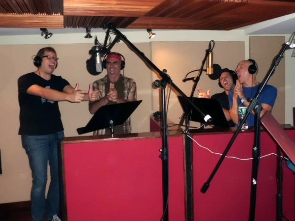 Photo Flash: SILENCE! Cast in the Recording Studio