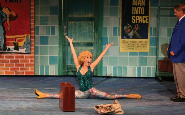 Kelly Sheehan, Lara Teeter at Lara Teeter, Andrea Burns, et al. in The Muny's BYE BYE BIRDIE!