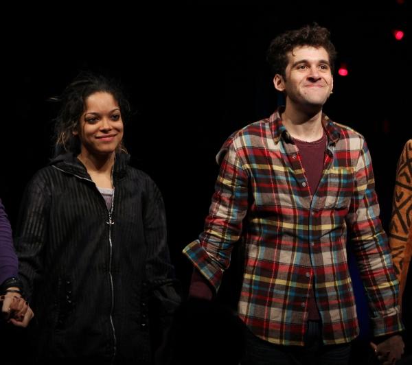 Arianda Fernandez & Adam Chanler-Berat during the Off-Broadway Opening Night Curtain  Photo