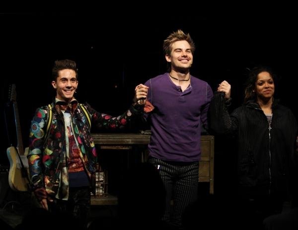 Michael Wartella, Matt Shingledecker, Arianda Fernandez during the Off-Broadway Openi Photo