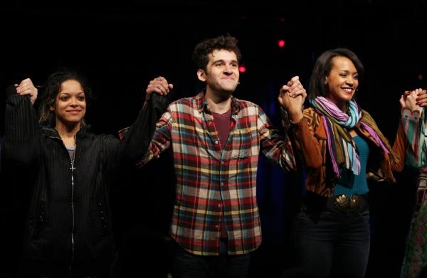 Arianda Fernandez, Adam Chanler-Berat & Corbin Reid during the Off-Broadway Opening N Photo