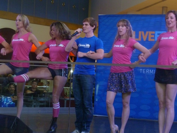 Photo Flash: CATCH ME IF YOU CAN Performs at JFK Airport!