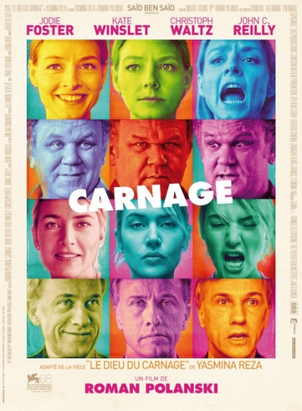 Jodie Foster, Kate Winslet, Christoph Waltz and John C. Reilly at First CARNAGE Film Poster Released