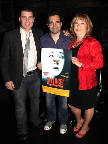 Producer Rich Affannato, Mario Cantone & Producer Victoria Lang   Photo