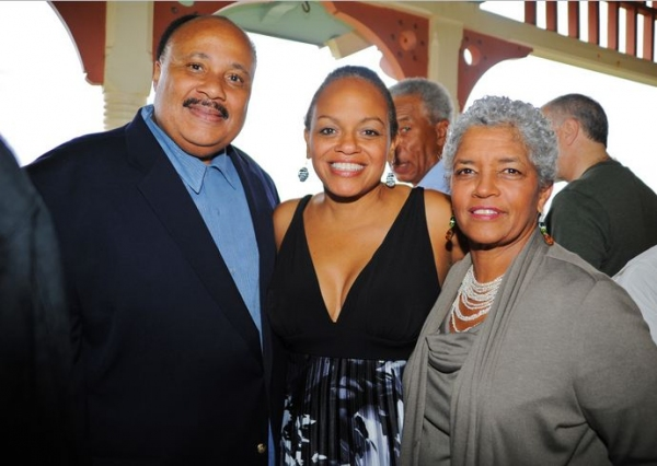 Martin Luther King III, Valerie Mosley, Shirley Franklin at STICK FLY Team Visits Martha's Vineyard