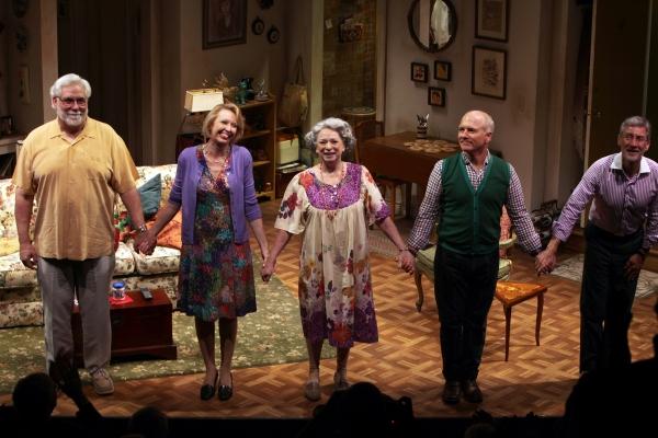 Curtain Call: Richard Masur, Julie Halston, Marcia Jean Kurtz, Dan Butler & David Gar Photo