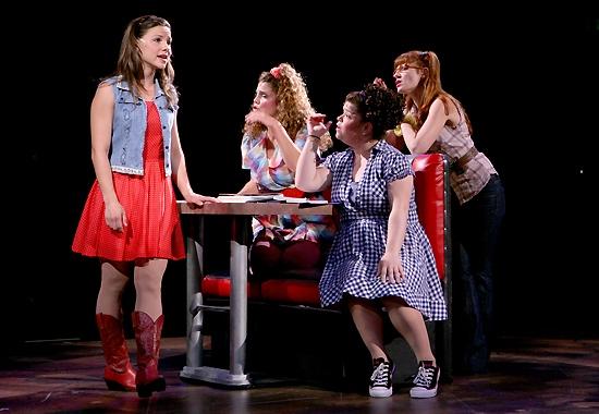 Chelsea Morgan Stock (Ariel) with Andrea Collier (Wendy Jo), Marissa Rosen (Urleen) and Gwen Hollander