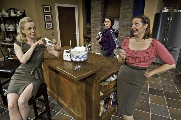Charlotte Fox as Molly, Morgan Reis as Nicky and Erica Livingston as Debra Photo