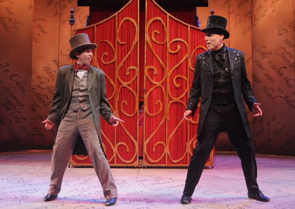Kevin Cahoon* as Hans Christian Andersen and Erik Stein* as Shadow  Photo