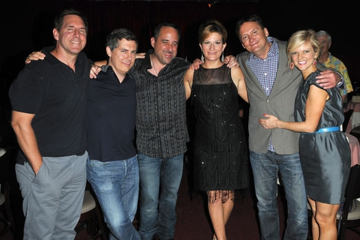 Tim Bagley, Chris Parnell, Tony Sepulveda, Ana Gasteyer, Michael Hitchcock, and Arden Myrin at Catalina Jazz Club at Ana Gasteyer Makes L.A. Debut with 'Elegant Songs'