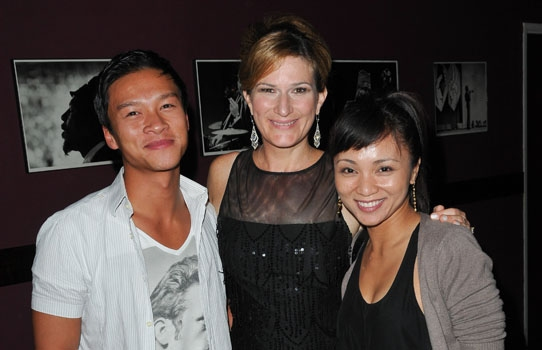 Ethan Le Phong, Ana Gasteyer and Jen Paz at Catalina Jazz Club Photo
