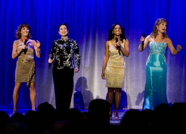 Paige O'Hara, Lea Salonga, Anika Noni Rose and Jodi Benson sing a princess medley at the Anaheim Convention Center Friday at Lea Salonga, Anika Noni Rose, Paige O'Hara et al. Honored at D23 Expo