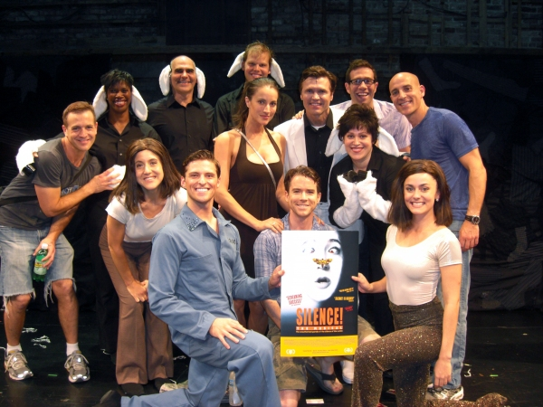 Christian Campbell, America Olivo and the entire company of SILENCE! The Musical