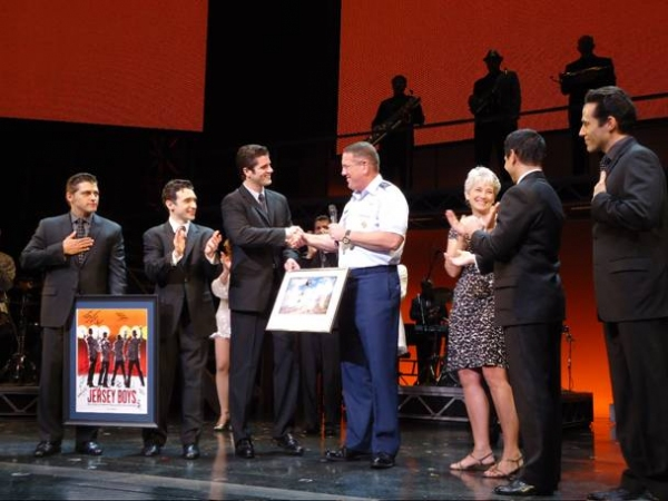 Photo Flash: JERSEY BOYS Welcomes Major General Bill Hyatt