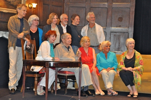 The Cast of Dark Shadows Reunion Shot-David Selby, Sharon Smyth, Lara Parker, Jerry Lacy, Roger Davis, Christopher Pennock, Marie Wallace, Jonathan Frid, Kathryn Leigh Scott, Kathleen Cody and Barbara Woronko