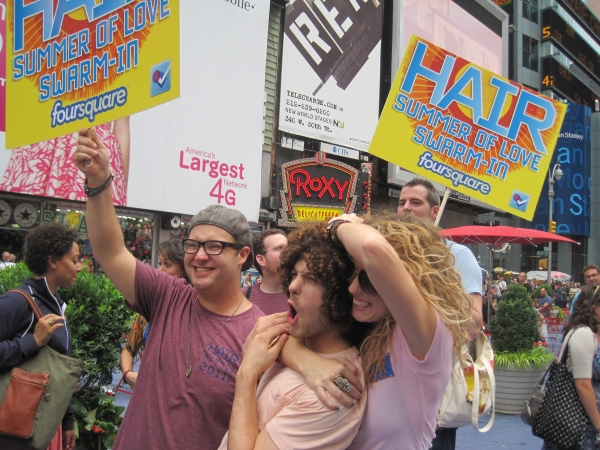 Photo Flash: HAIR Cast Performs at Foursquare Swarm-In!