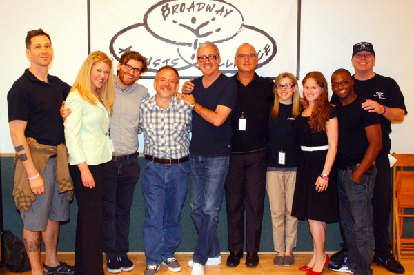 Alexander Rovang, Jennifer Johns, Will Larche, Marc Shaiman, Scott Wittman, Kevin Wallace, Kelly Thomas, Michelle Lehrman, Tyrick Wiltez Jones, and Jeff Shade   at Shaiman and Wittman Surprise Students at Broadway Artists Alliance 2011 Summer Session