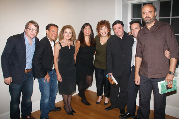Matthew Broderick, Eugene Pack, Tovah Feldshuh, Dayle Rayfel, Joy Behar, Nathan Lane, Mario Cantone, and Scott Adsit