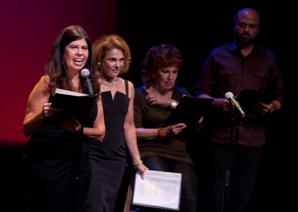 Dayle Rayfel, Tovah Feldshuh, Joy Behar, and Scott Adsit