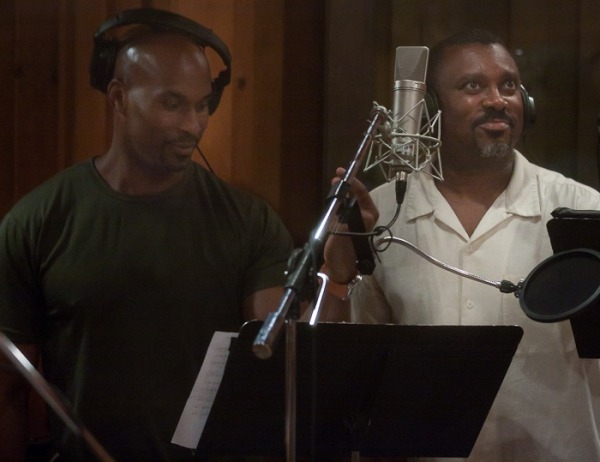 Alan H. Green and Kingsley Leggs at SISTER ACT Records Number for 2011 Edition of 'Carols for a Cure' Album, Benefitting BC/EFA