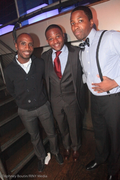Eusi Skeete, Barbados Tourism Authority; Fabrice Armand, Rashad Edwards