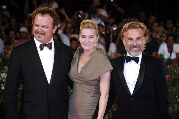 John C. Reilly, Kate Winslet and Christoph Waltz