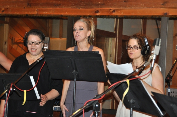 Errolyn Rosa, Angie Schworer and Anna Hoffman at CATCH ME IF YOU CAN Sings For 'Carols For A Cure'