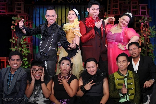 Ian Segarra, Cheeno Macaraig, Meann Espinosa, Hapster Constantino, Norbs Portales III, Jojo Atienza, Carlon Matobato, Anj Heruela, John Moran and J-mee Katanyag at BBC News Features Shakespearean Rap Musical in Filipino