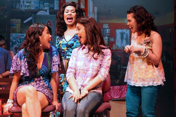 Ima Castro, Tex Ordonez, K-La Rivera and Tanya Manalang at  IN THE HEIGHTS Opens in Manila
