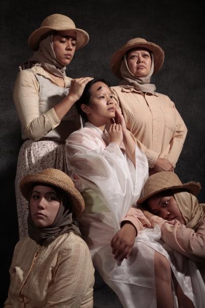 Elexis Draine and Jaime Bradner; (center) Evelyn Leung; (back left to right) Lisa Ann Katagiri Bright and Danielle Zalopany