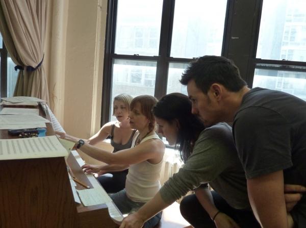 Julie McBride, Wendy Bobbitt Cavett, Carrie Manolakos, and Brian Gallagher