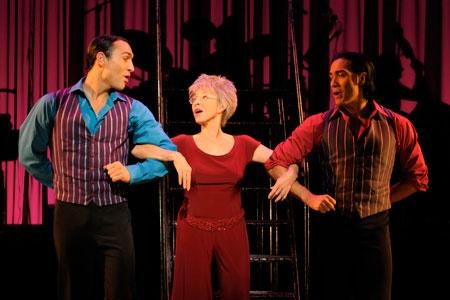 Rita Moreno performs with Salvatore Vassallo (left) and Ray Garcia  Photo