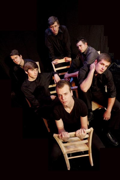 (Clockwise starting at top) Lincoln Slentz (Hanschen), Matt Patterson (Otto), David Terry (Melchior), Danny Kingston (Moritz), Kyle Mottinger (Ernst), Brandon Alstott (Georg) from Spring Awakening, opening September 22, 2011 on the Phoenix Mainstage.