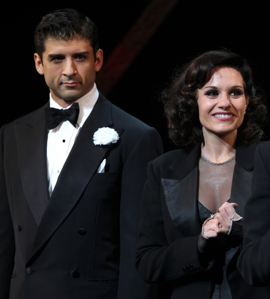 Curtain Call - Kara DioGuardi with Tony Yazbeck as she makes her Broadway Debut as Ro Photo