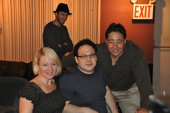 Lynn Pinto (Producer), Ari Raskin (Engineer), Daniel Rodriguez and Jesse Lynch Photo