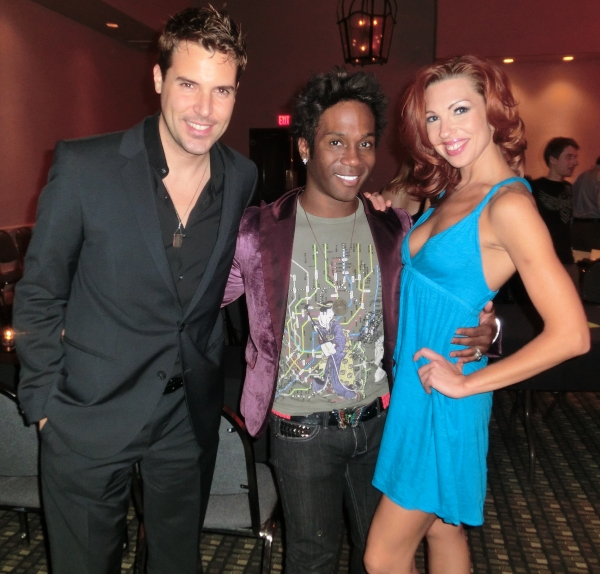 Frankie Moreno, Dezmond Meeks, Tara Palsha at JIM CARUSO'S CAST PARTY Hits Las Vegas