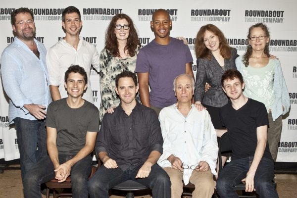 (BR) Peter DuBois, Stephen Karam, Joanna Gleason, Jonathan Louis Dent, Dee Nelson, Lizbeth Mackay, (FR) Charles Socarides, Santino Fontana, Yusef Bulos and Chris Perfetti at BWW Meets Roundabout's SONS OF THE PROPHET Company; Joanna Gleason & More!