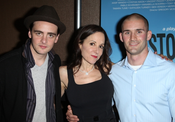 Vincent Piazza, Playwright Sarah Tuft & Probationary Firefighter Jason Cascone  at Jeremy Piven, Mario Cantone, et al. at 110 STORIES Opening Night!
