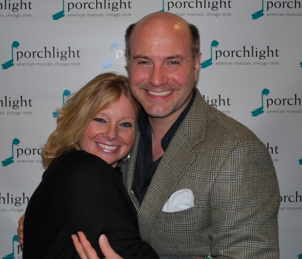 Director/choreographer of Putting ItTogether Brenda Didier and Porchlight's Artistic Director Michael Weber at Porchlight Opens Putting It Together