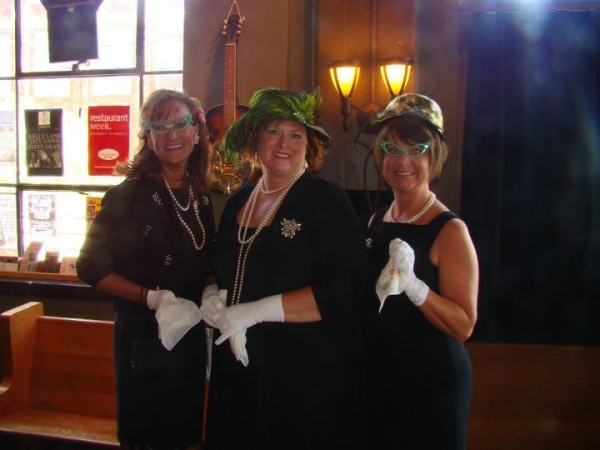 Tracey Barnes Hughes, Brenda Frye and Lisa Garner Harrison, channeling their moms for the WIT Luncheon.