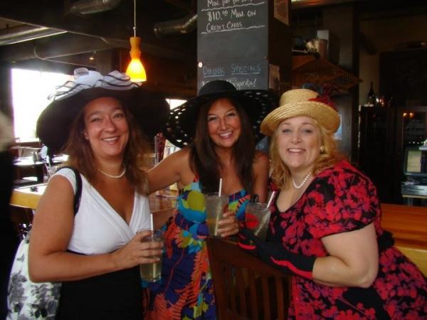 Kate Adams-Johnson, Hannah McGinley and Linda Cameron-Bayer