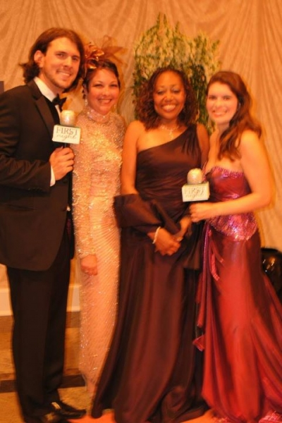 Trey Palmer, Cary Street, 2011 First Night Honoree Helen Shute-Pettaway and Jennifer Richmond