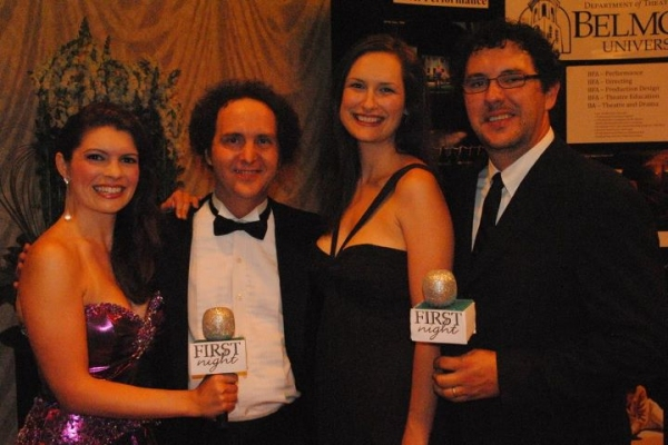 Jennifer Richmond with Boiler Room Theatre's Jamey Green, Neely O'Brien Green and her husband Corbin Green