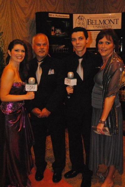 Jennifer Richmond with 2011 Most Promising Tyler Henry and his parents Photo
