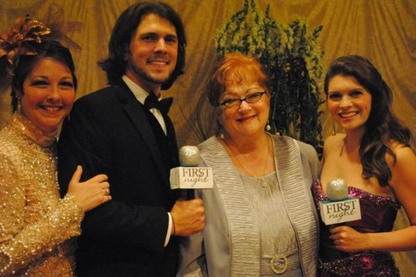 Cary Street, Trey Palmer, 2011 First Night Honoree Layne Sasser and Jennifer Richmond
