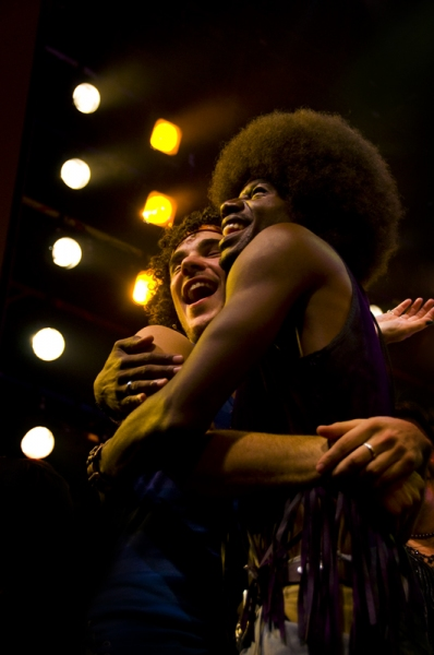 John Moauro & Darius Nichols at HAIR Tour Closes on Broadway
