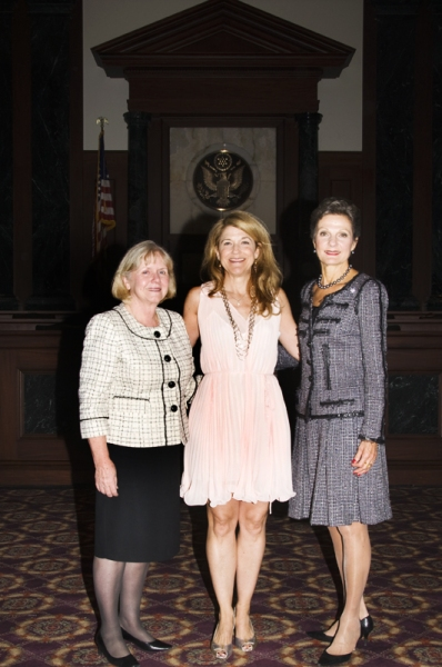 Judge Barbara S. Jones, Victoria Clark and Chief Judge Preska