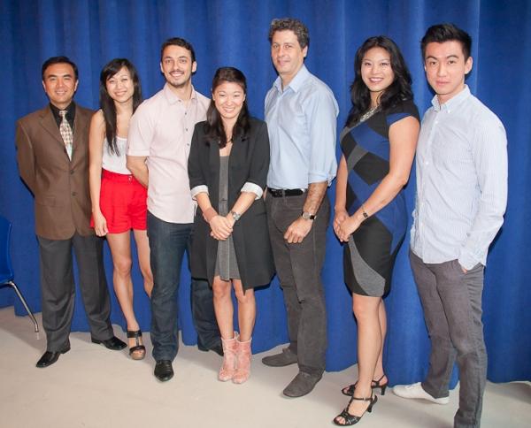 Larry Lei Zhang, Angela Lin, Stephen Pucci, Jennifer Lim, Gary Wilmes, Christine Lin, and Johnny Wu