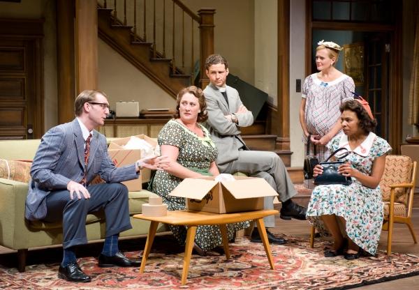Cliff Chamberlain, Kirsten Fitzgerald, Brendan Marshall-Rashid, Stephanie Childers and Karen Aldridge at Steppenwolf Theatre's CLYBOURNE PARK
