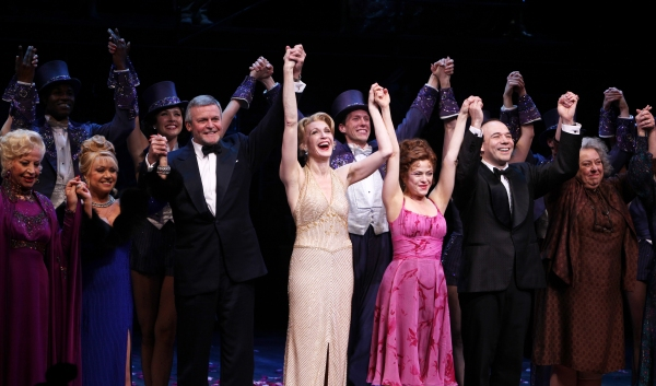 Rosalind Elias, Elaine Paige, Ron Raines, Jan Maxwell, Bernadette Peters, Danny Burstein, Jayne Houdyshell & Susan Watson at FOLLIES Broadway Opening Night Curtain Call!